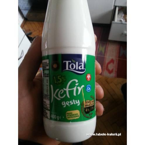 Kefir gęsty 1,5% - Tola - kalorie, wartości odżywcze, ile..