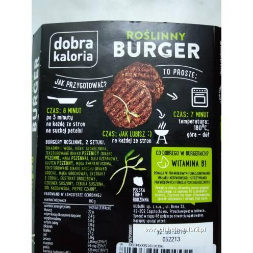 Roślinny burger - Dobra Kaloria - kalorie, wartości..