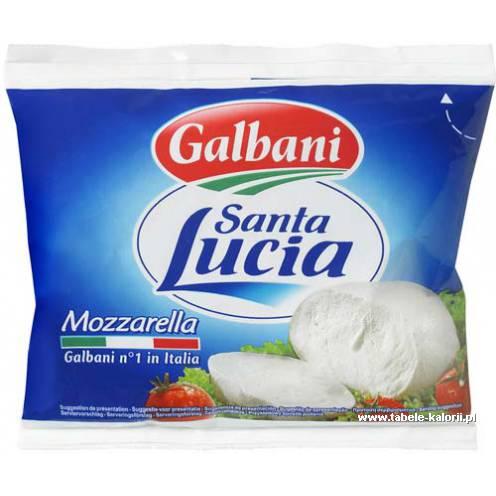Ser mozzarella Santa Lucia - Galbani - kalorie, wartości..