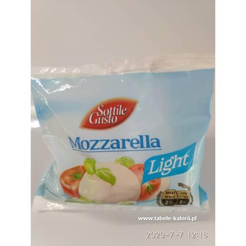 Mozzarella Light - Sottile Gusto - kalorie, wartości..