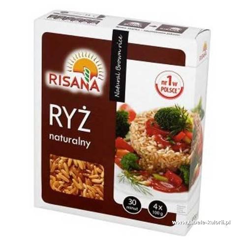Ryż naturalny brązowy długoziarnisty - Risana - kalorie..