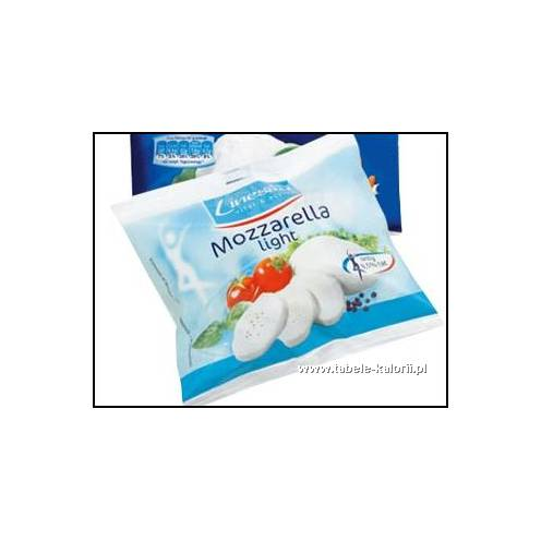 Ser Mozzarella light 8,5% - Linessa - kalorie, wartości..