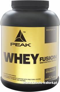 Odżywka Whey Protein Fusion - Peak - kalorie, wartości ...