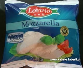 Mozzarella - Lovilio - kalorie, wartości odżywcze, ile..