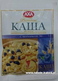 Płatki owsiane błyskawiczne - borówka - Axa - kalorie..