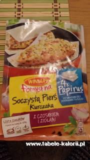 Pomysł na Soczystą pierś kurczaka z czosnkiem i ziołami..