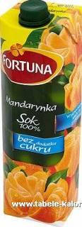 Sok Mandarynka - Fortuna - kalorie, wartości odżywcze, ile..