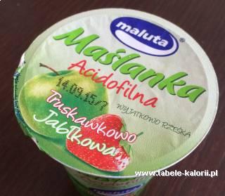 Maślanka Acidofilna Truskawka-jabłko - Maluta - kalorie..