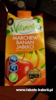 Sok przecierowy marchew-banan-jabłko - Vitanella - kalorie..
