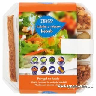 Sałatka z mięsem kebab - Tesco - kalorie, wartości..