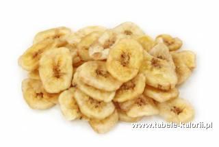 Banan suszony - kalorie, wartości odżywcze, ile kalorii..